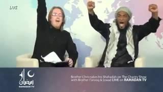 Shahadah On Live TV.... Masya Allah.