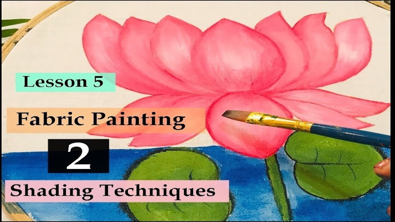 Shading Techniques | Fabric painting |Lesson 5