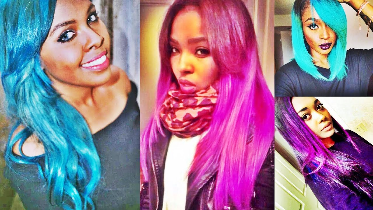 multi color hairstyles black