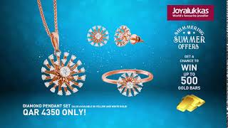 Summer Exclusive Diamond Jewellery Collection - WIN UP TO 500 GOLD BARS!