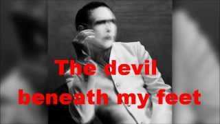 Marilyn Manson - The devil beneath my feet (Only Lyrics) - New Song - The Pale Emperor