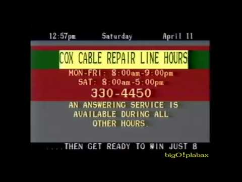 Cox Cable of Omaha Program Listings (4-11-1987)