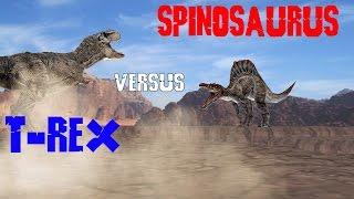 Jurassic Park: T-Rex vs. Spinosaurus - MMD Animation