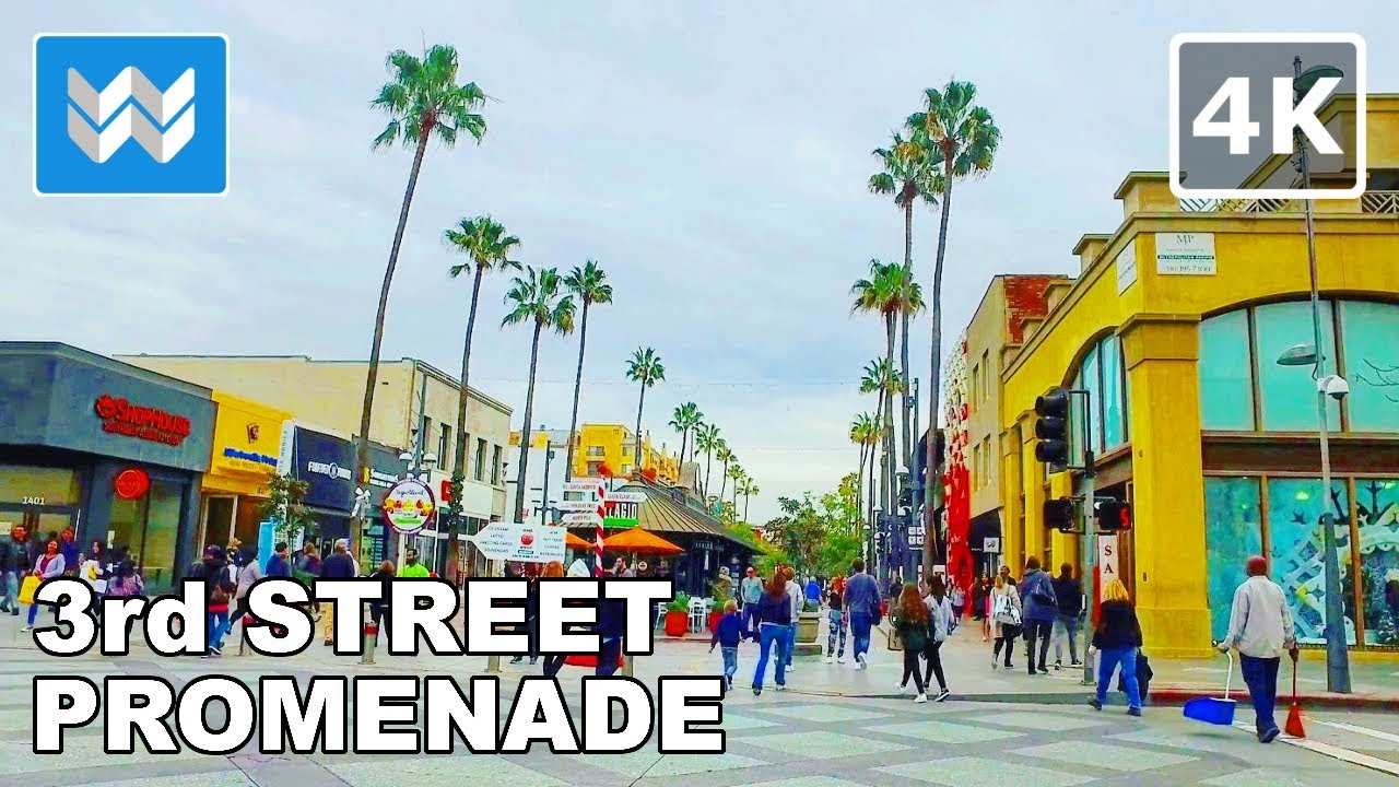 Third Street Promenade >> Walking Around 3rd Street Promenade In Santa Monica California 4k