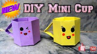 DIY: DIY Mini Cup | Paper Crafts For School | Miniature | Easy Paper Cup Origami Tutorial