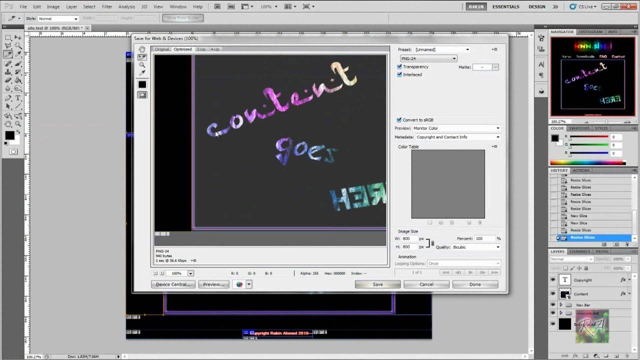 Image Slicing in Photoshop CS3 - Layers Magazine