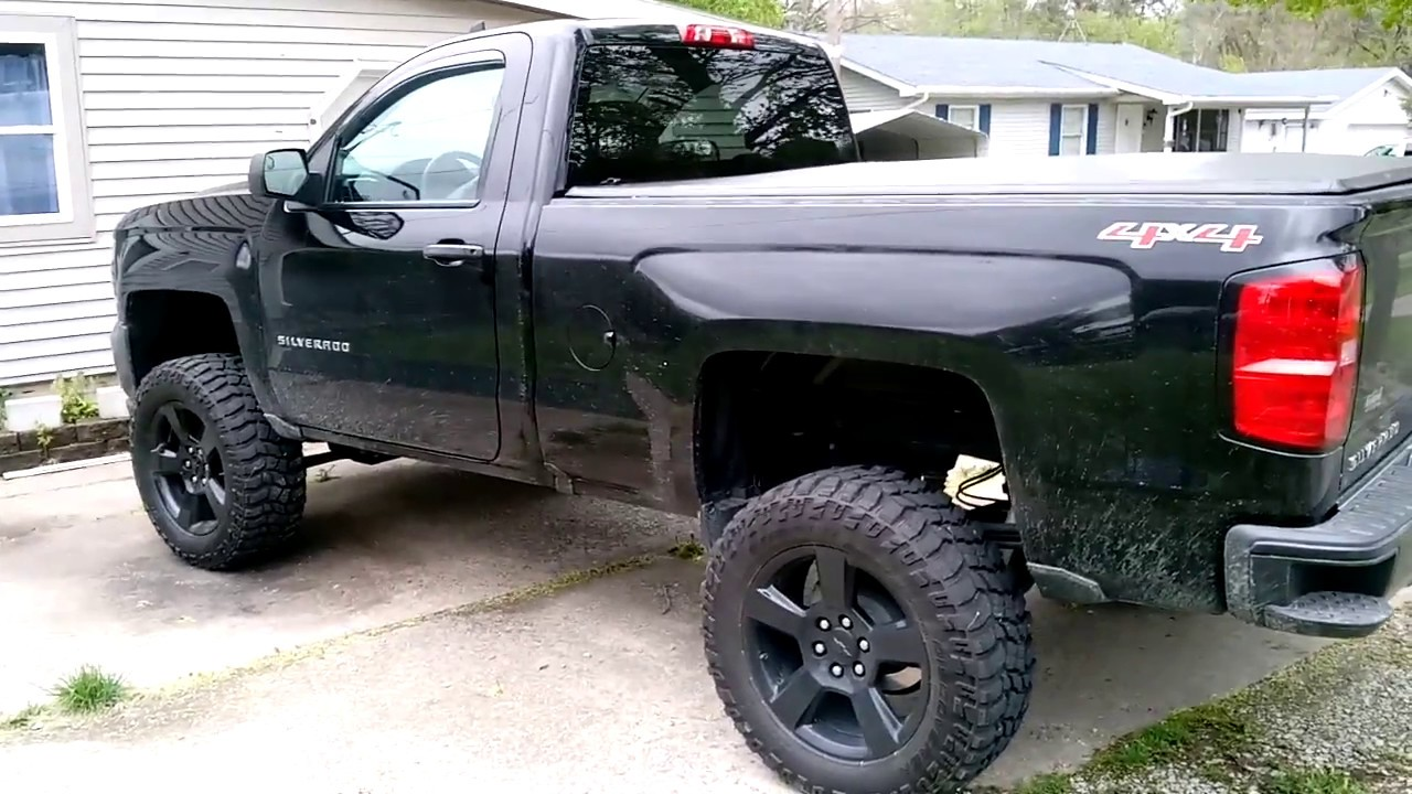 """2017 Chevrolet Silverado Blackout Edition >> 2016 Black Out Edition Chevrolet Silverado Single Cab Standard Box w/a 6"""" lift on 20's and 34's ..."""