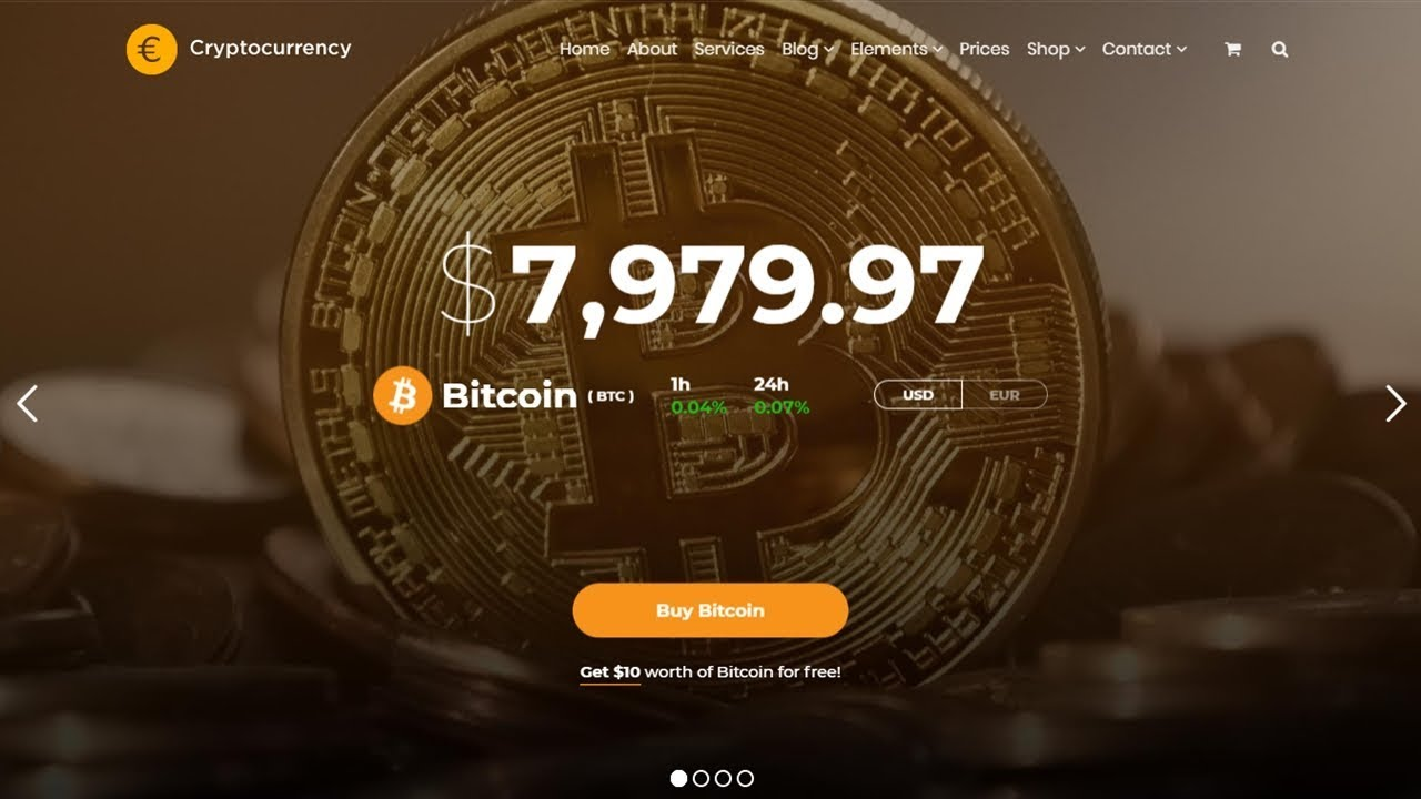 Cryptocurrency WordPress Theme Presentation - Responsive Crypto Website Builder