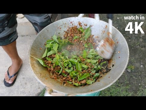 Eating Crazy Spicy Quail (นกกระทาผัดเผ็ด) – Thailand Village Food in Nakhon Sawan!