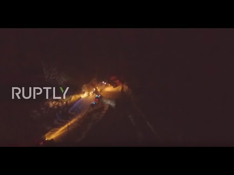 Russia: Dramatic drone footage captures rescue ops. at An-148 crash scene