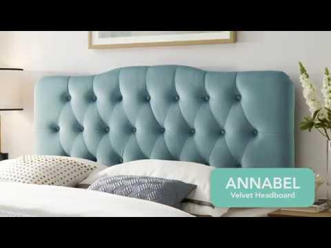 Annabel Velvet Headboard