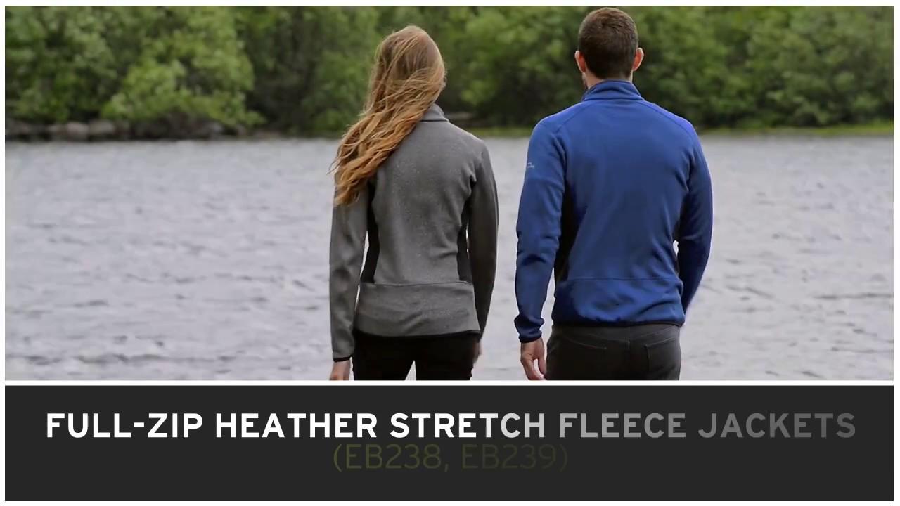 b320b5cfe86 Eddie Bauer Full-Zip Heather Stretch Fleece Jacket - YouTube