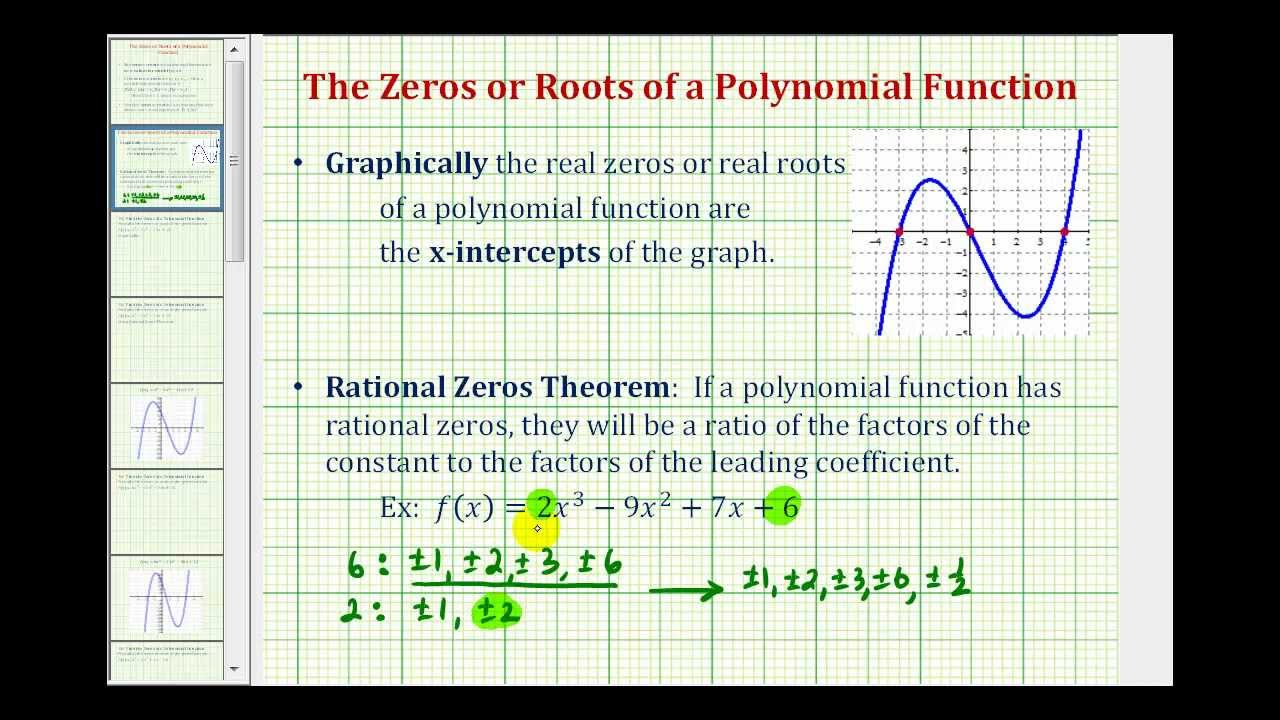 Find Zeros of a Polynomial Function (solutions, examples ... on