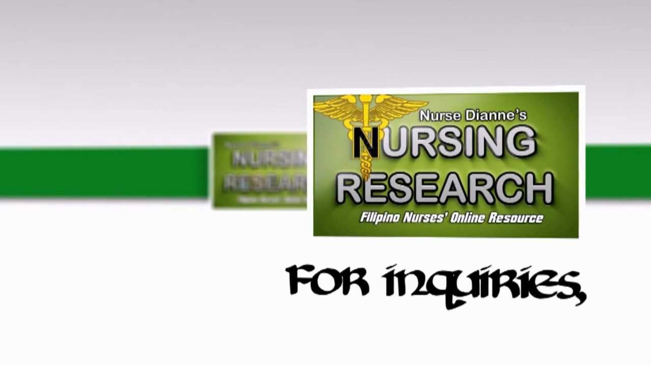 Thesis in writing nurses topics