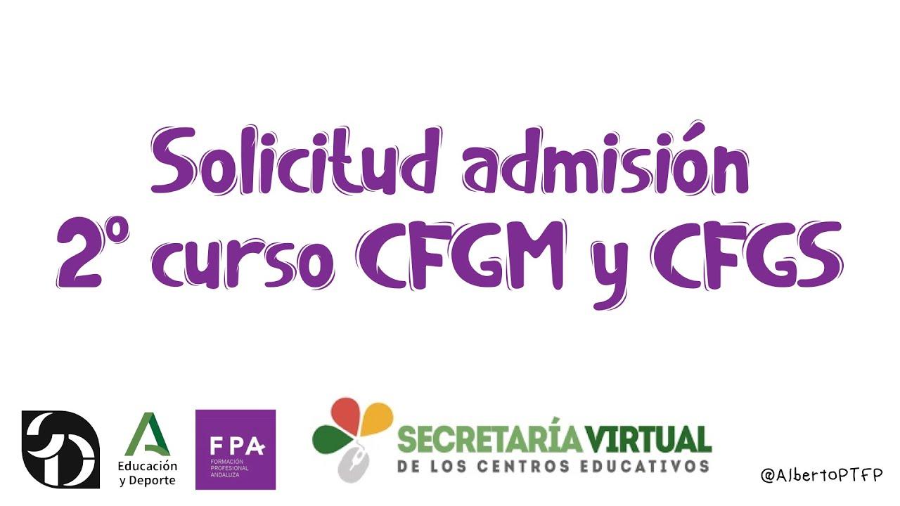 Solicitud admisión 2º CFGM y CFGS | AlbertoPTFP