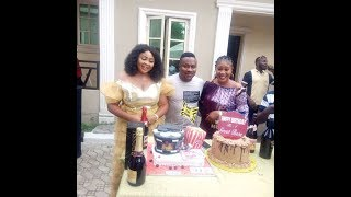 OMG Popular ActorSegun Ogungbe Two Wives Family amp Friends Surprised Him On His Birthday