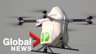Delivery by drone growing in remote areas before cities