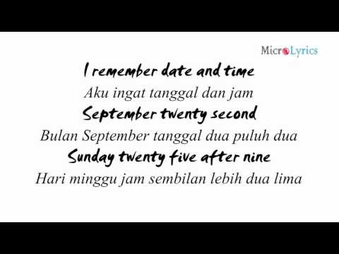 M2M - The Day You Went Away (Lyrics) (Indo Sub)