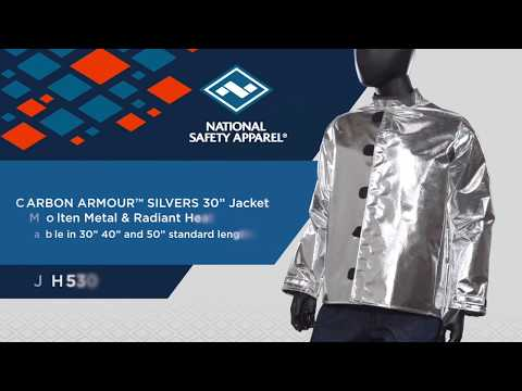 CARBON ARMOUR SILVERS Jacket for Molten Metal & Radiant Heat