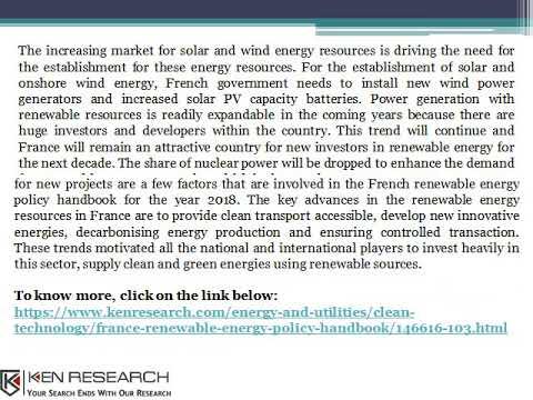 France Renewable Energy Consumption, Energy Production, Market Developments-Ken Research