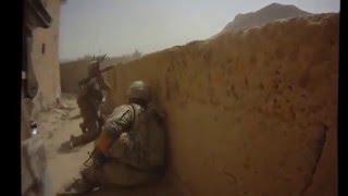 Кадры боя американских солдат в Афганистане