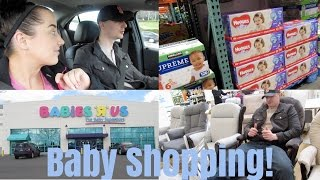 BABY SHOPPING VLOG! BABIES R US + COSTCO! | Riley Family Vlogs
