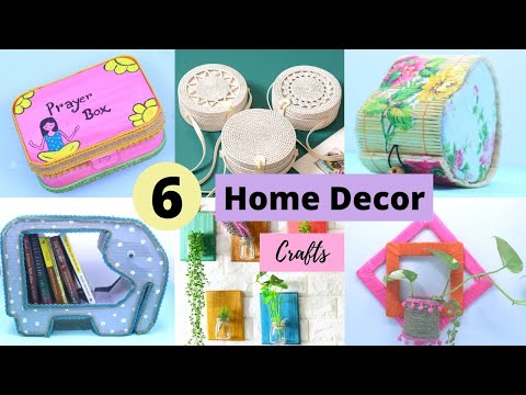 6 Awesome DIY Home Decors and Organizers Craft Projects /  Room Decor Ideas by Aloha Crafts