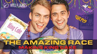 Celebrate Mardi Gras with Homemade King Cake | Amazing Race 32 | Will and James