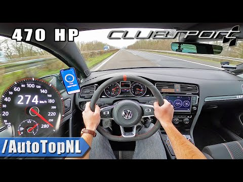 470HP VW GOLF GTI CLUBSPORT On AUTOBAHN (NO SPEED LIMIT) By AutoTopNL