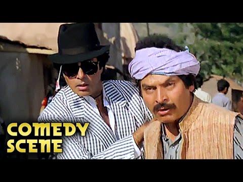 Asrani And Amitabh Bachchan Comedy Scene   Aaj Ka Arjun   Amitabh Bachchan, Jaya Prada   HD