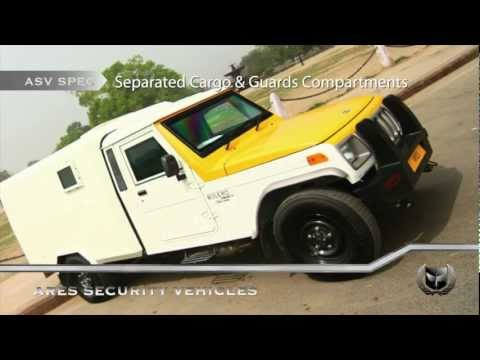 Ares Security Vehicles - Armoured Mahindra Bolero Cash & Valuables Transport