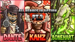 All Heroes In Acтion - Kingdom Rush Frontiers part 2.