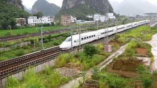 CRH2A, China High Speed train 中國高速列車 (D2948/9广州往柳州, Guangzhou to Chengdu Train)