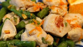 Orange Asparagus Chicken Stir Fry