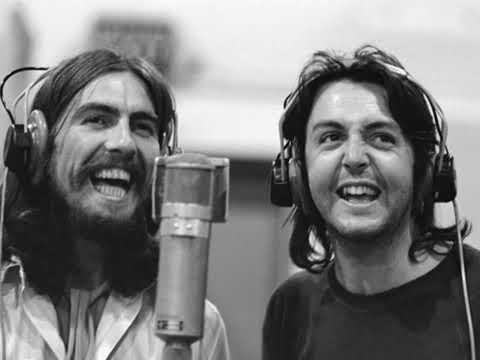 Paul mccartney And George Harrison Sings Here comes the sun without music  only singing - YouTube