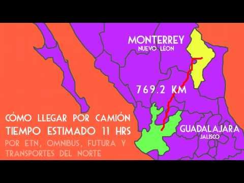 Mapas: ¿Cómo llegar de Monterrey, NL  a Guadalajara, Jal?
