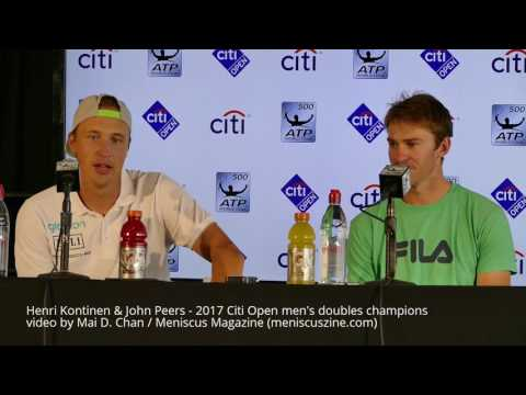 Henri Kontinen & John Peers press conference - 2017 Citi Ope
