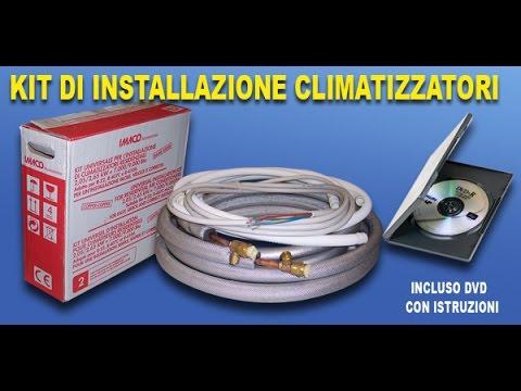 kit di installazione climatizzatore fisso murale FAI DA TE - YouTube