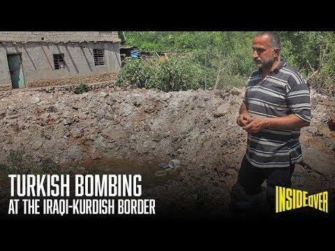 Turkish bombing  at the Iraqi-Kurdish border