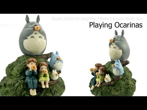 Studio Ghibli My Neighbor Totoro Ceramic Music Box - Playing Ocarinas