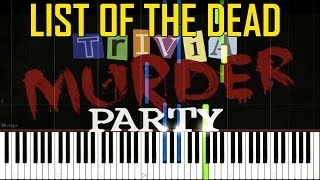 list of the dead trivia murder party theme ost jackbox party pack 3 synthesia piano tutorial