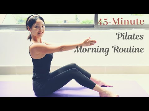 �� Perfect Full Body Morning Routine| 45 Minute Pilates Workout With Hannah