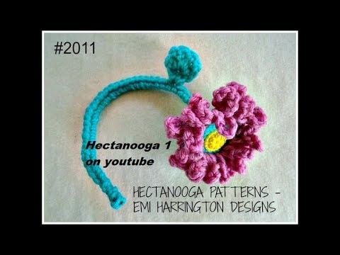 Ruffled Crochet Flower On A Stem Pattern 2011 Free Crochet