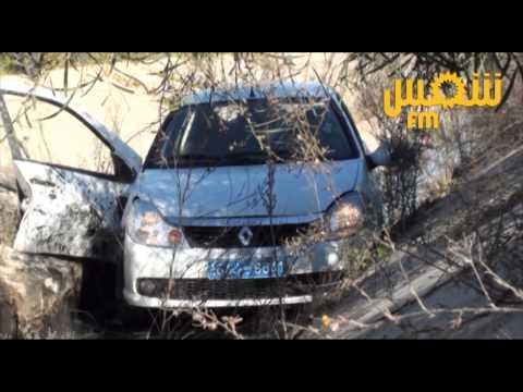 Un accident à l'autoroute de la Marsa: une voiture se trouve coincée dans l'Oued
