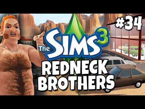 Sims 3 - Redneck Brothers #34 - Clyde's Car Dealership