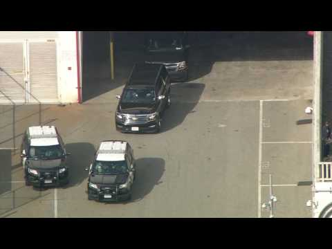 CA: JAMES COMEY LEAVES LA FBI FIELD OFFICE