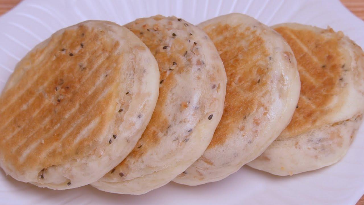 花生烧饼最好吃的做法,一卷一拧不用包,外酥里香,比买的还好吃