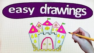 Easy drawings #191  How to draw a Princess castle