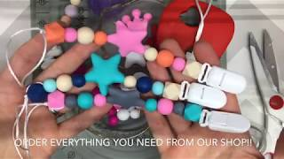 How to Make A Pacifier Teething Bead Clip