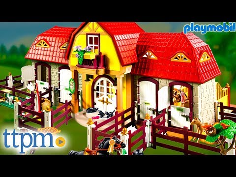 Large Horse Farm with Paddock from Playmobil